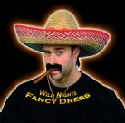 FANCY DRESS HAT # MEXICAN SOMBRERO HAT STRAW COLOUR
